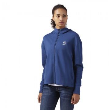 Купить REEBOK DC FZ HOODIE Blue CF9525