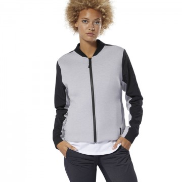 Купить Бомбер Reebok TRAINING SUPPLY FULL-ZIP DP5612